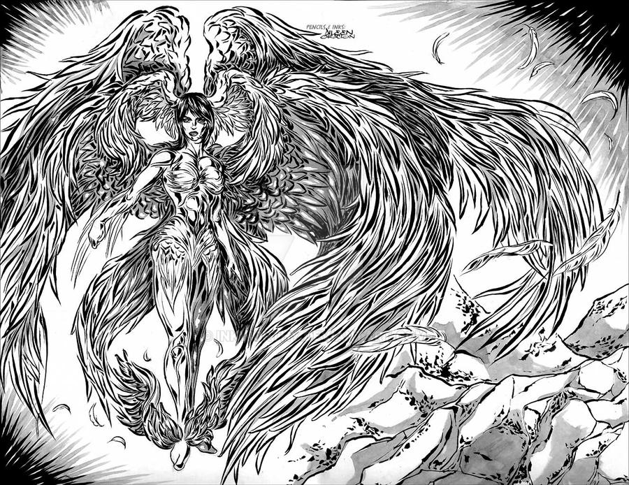 Archangel / Metatron by InkWorthy on DeviantArt