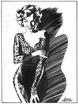 Marilyn Monroe in Black Dress