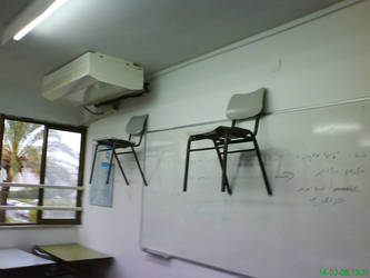 chairs on the wall please