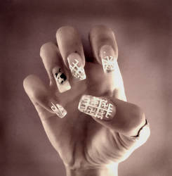Slavic nails by Asagodess