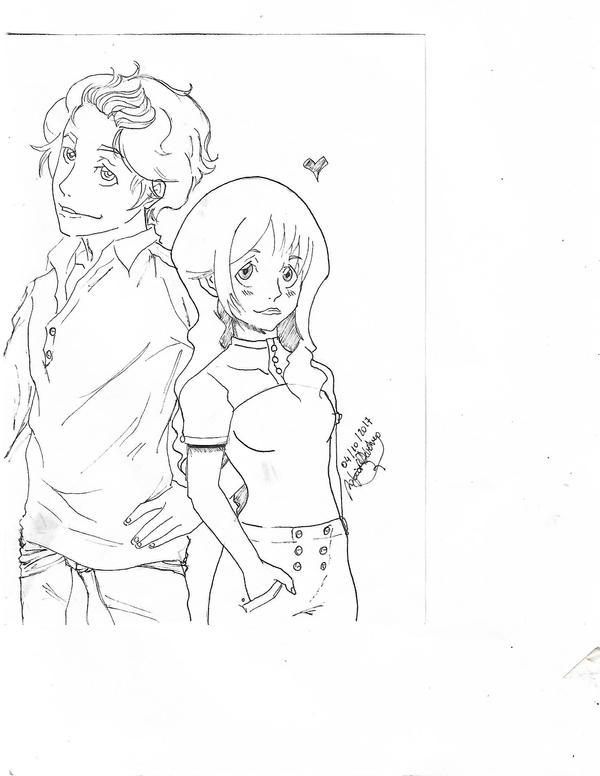 norman and Roxane #inktober 4 by KILLARIYACHAY