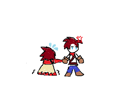 In trouble by LadyShen