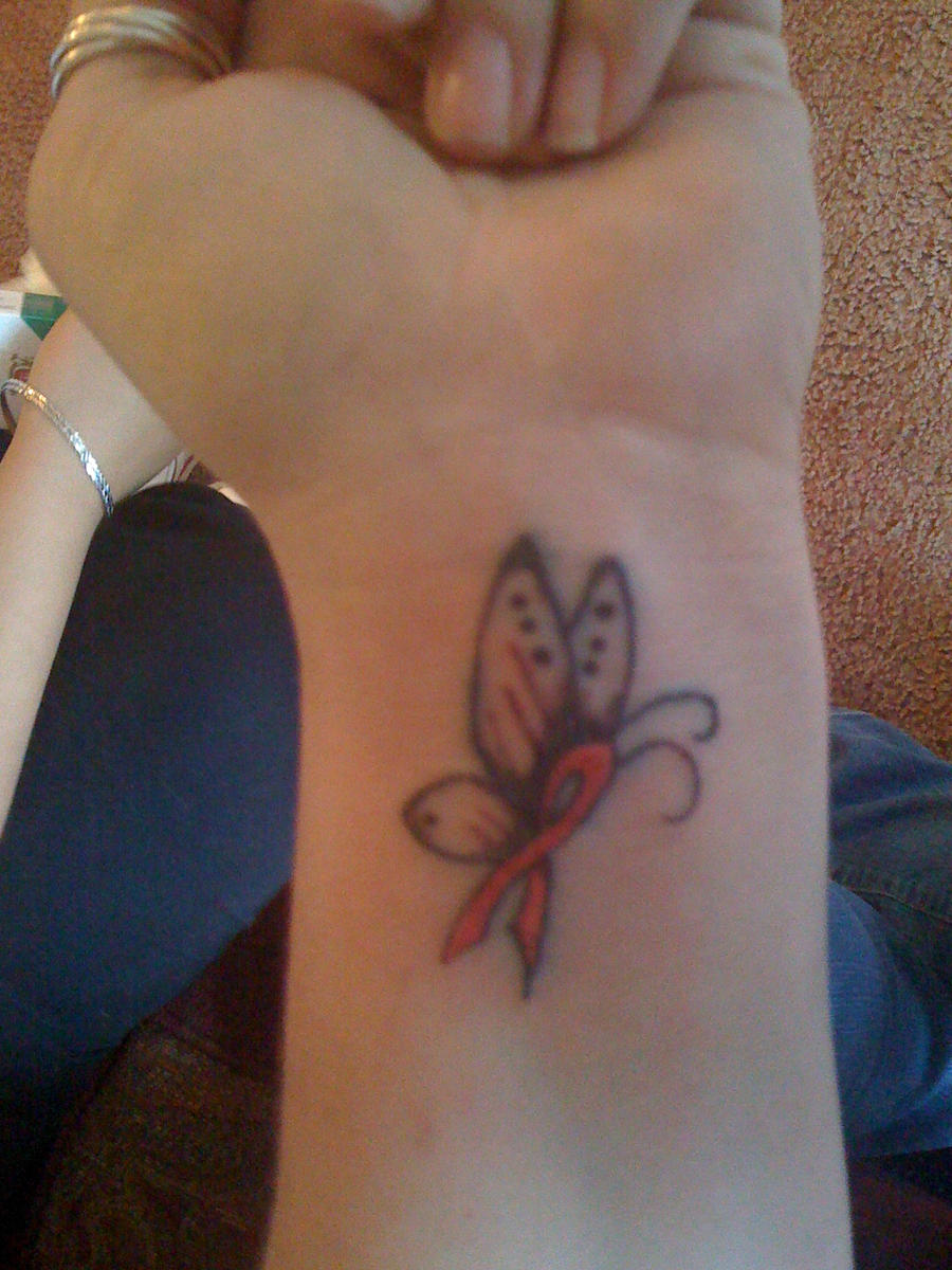 Breast cancer butterfly by tattooguy09 on deviantart for Breast cancer butterfly tattoos