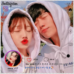 Instagram Couple Template by CromwellXoxoLu