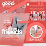 Template  Girl friends  Pink
