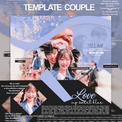 template couple blue by CromwellXoxoLu