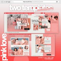 Template pink love couple by CromwellXoxoLu