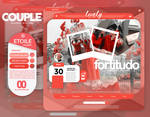 Template couple red