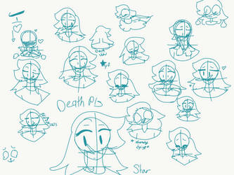 Sum star sketches by mogeko123yf