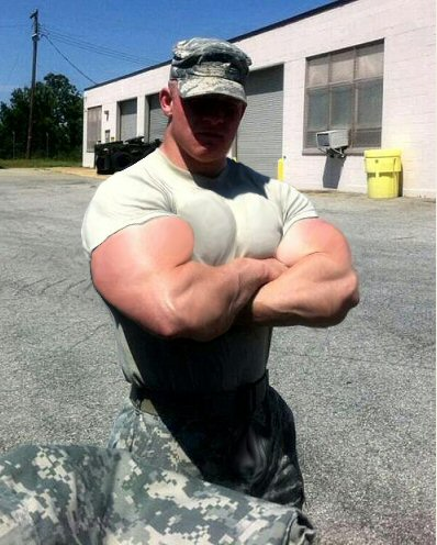 Musclemorphed Military Hunk3 by free42dream