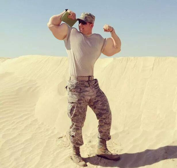 Musclemorphed Military Hunk4 by free42dream