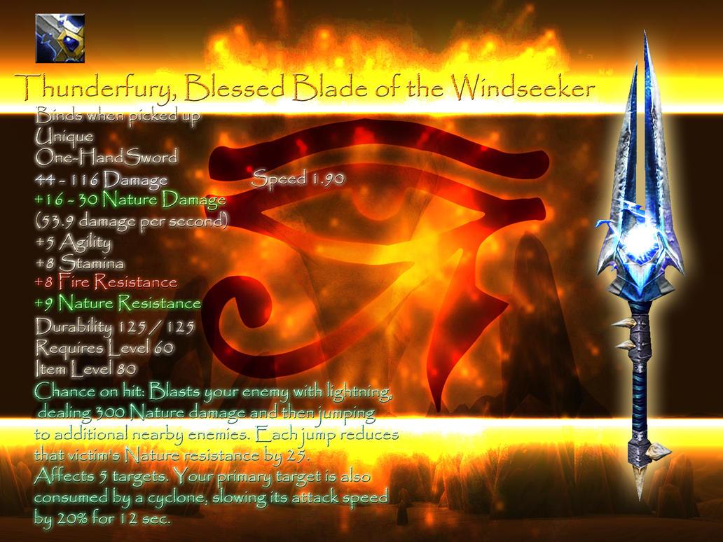 Thunderfury Windseeker S Blade By Acriticarna On Deviantart