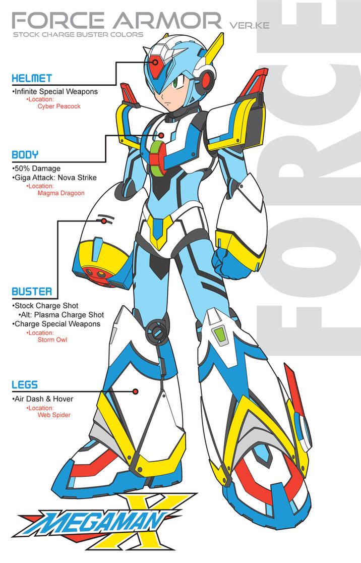 Megaman X4 Force Armor SC-Ver Ke by Redblaze4080 on DeviantArt