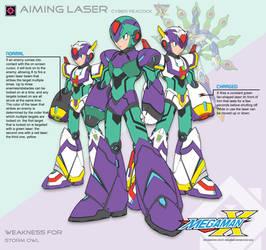 Megaman X4 Aiming Laser-Ver.Ke by Redblaze4080