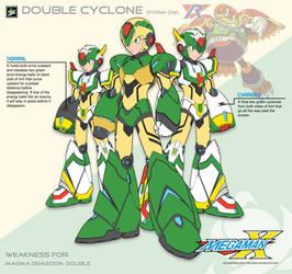Megaman X4 Double Cyclone-Ver.Ke by Redblaze4080