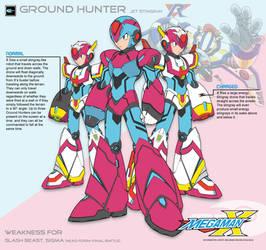 Megaman X4 Ground Hunter-Ver.Ke by Redblaze4080