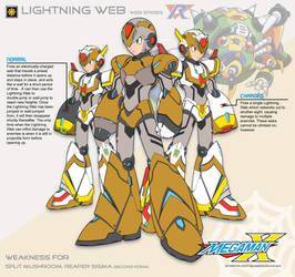 Megaman X4 Lightning Web-Ver.Ke by Redblaze4080