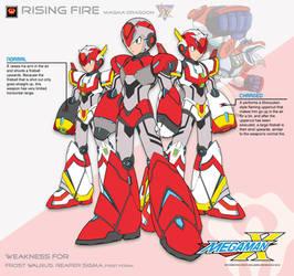 Megaman X4 Rising Fire-Ver.Ke by Redblaze4080