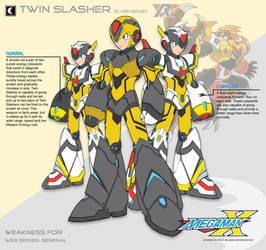 Megaman X4 Twin Slasher-Ver.Ke by Redblaze4080