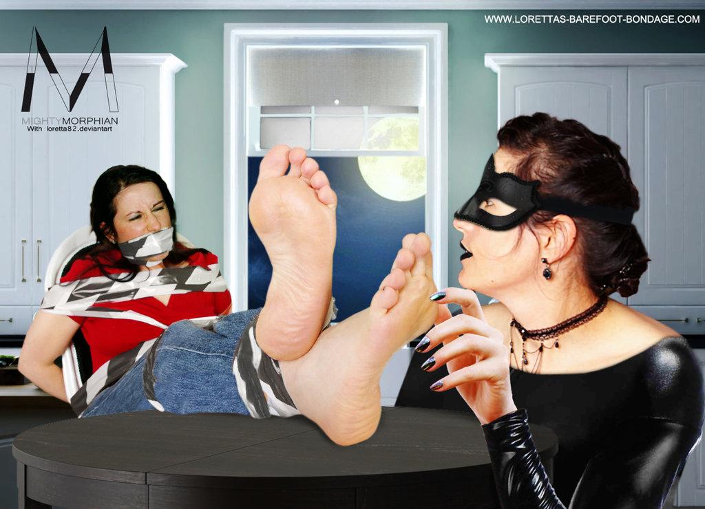 The Dark Thief tickle bound Feet by Loretta82