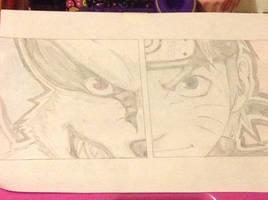 Kurama and Naruto