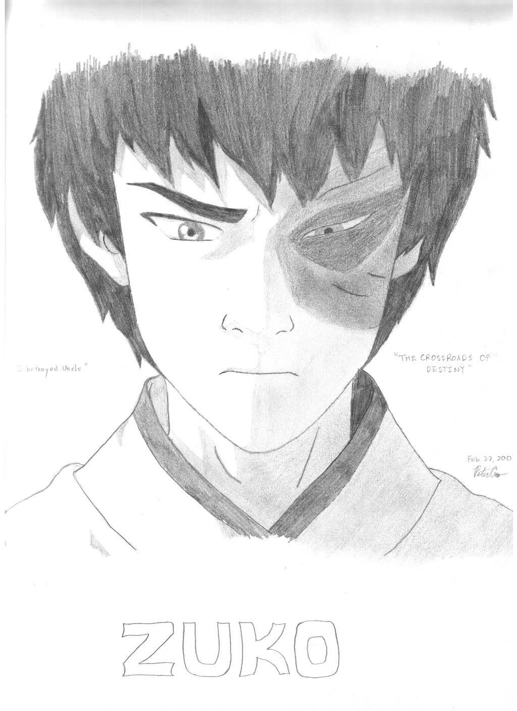 Нарисованный аватар зуко