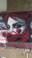 An Emilie Autumn Graffiti Painting by MssMime
