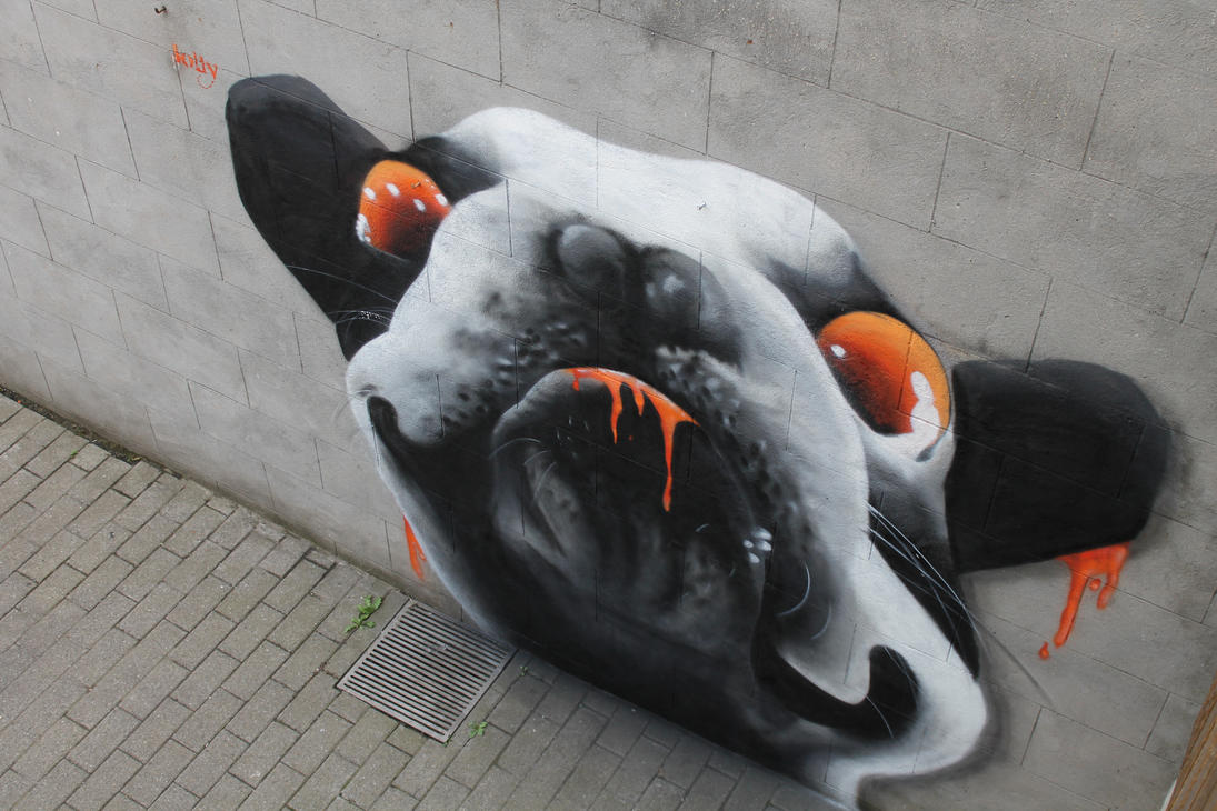 Zombie Dog Graffiti by MssMime