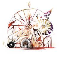 Girl in the Broken Clock by KaisPotato