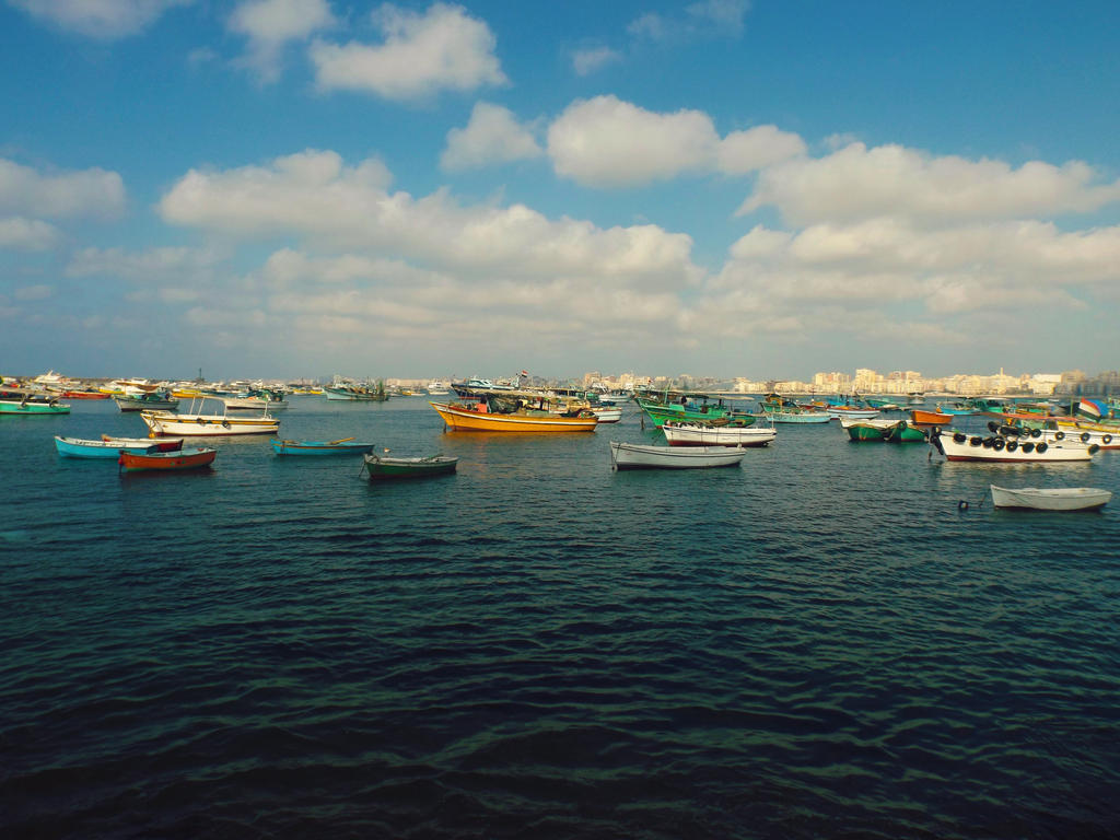 Fishing boats by Sara0TH