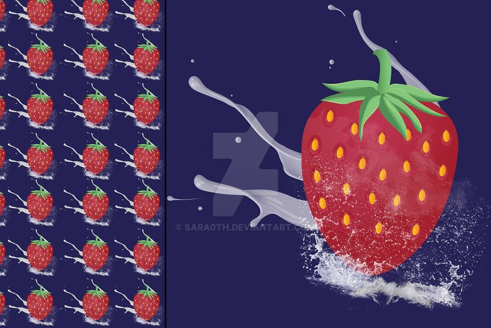 Strawberry and cream by Sara0TH