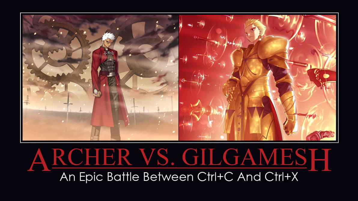 Unlimited Blade Works Vs Gate Of Babylon By Whisperoftheserpent