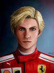 Sailor Moon - Tenoh Haruka as an F1 Ferrari Driver by TheKissingHand