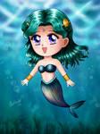 Sailor Moon - Chibi Mermaid Neptune by TheKissingHand