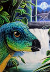 Leaellynasaura amicagraphica [Ref Drawing] by TheKissingHand