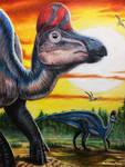 Corythosaurus Casuarius [Ref Drawing] by TheKissingHand
