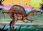 Pre-2014 Spinosaurus Aegyptiacus [Ref Drawing] by TheKissingHand