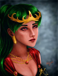 Sailor Moon - Queen Setsuna realistic style [Gift] by TheKissingHand