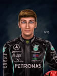F1 Fanart - George Russell by TheKissingHand
