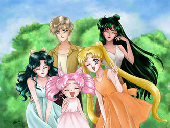Sailor Moon - Senshi's photo Redraw by TheKissingHand
