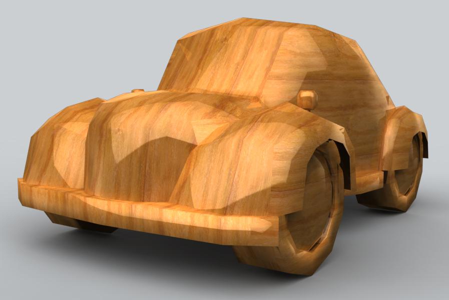 Wood Car Art : Low poly wood car by seanroche on deviantart
