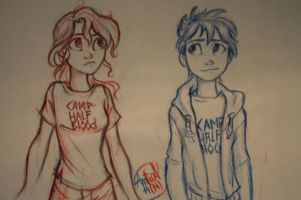 Annabeth and Percy by Amfia