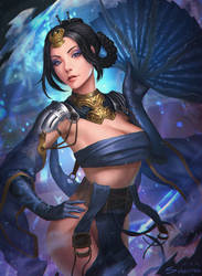 Kitana - Mortal Kombat X [FANART] by Sunkeytail