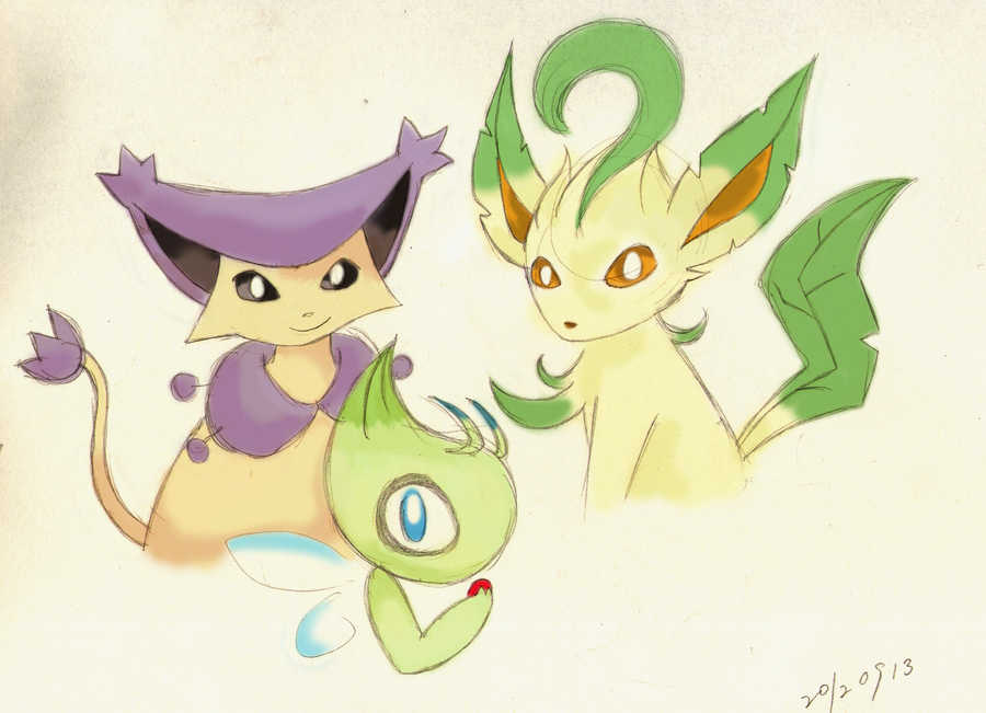 Oldish Pokemon Sketch - Lily Eve Bea By Joysii On DeviantArt