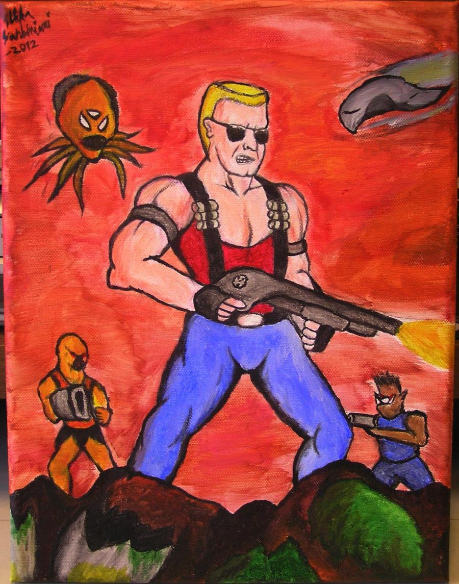 Ryan Vougan Duke_nukem_the_painting_by_kiljunator-d4weusw