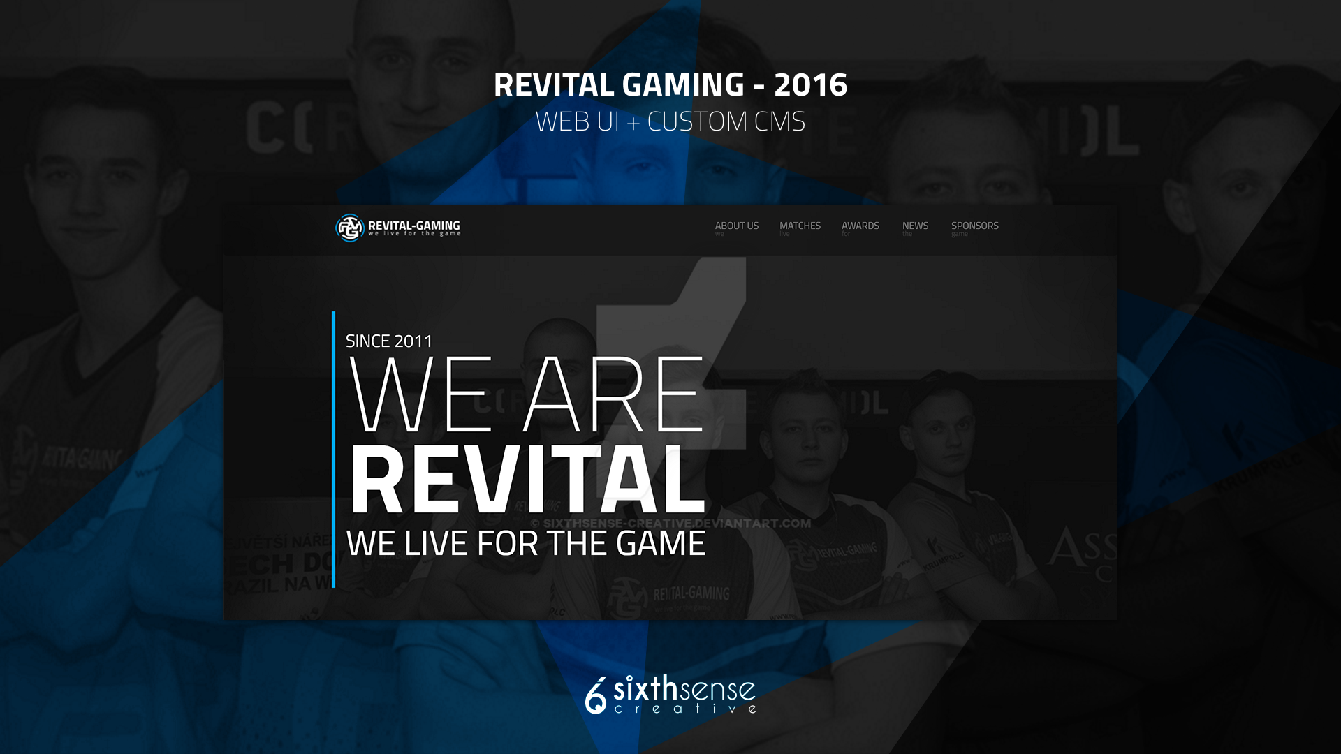 REVITAL-GAMING 2016 - UI / UX and CMS by sixthsense-creative on ...