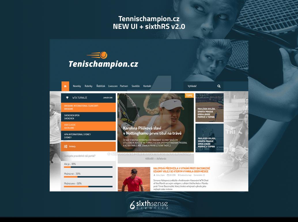 Tennischampion.cz | New WEB UI + sixthRS v2.0 by sixthsense-creative