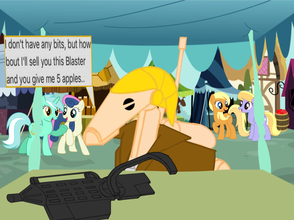 B1-224 trying to buy apples at ponyville