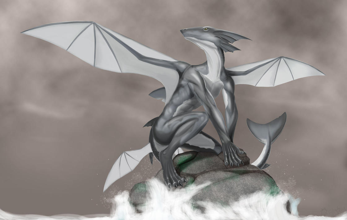 Shark hybrid drawing - photo#30