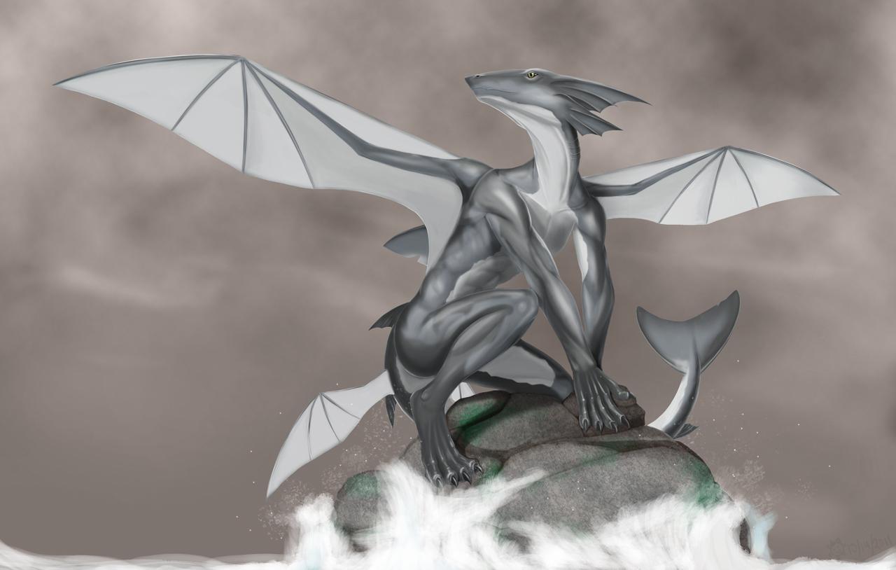 Shark hybrid drawing - photo#9